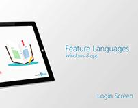 Feature Languages Windows 8 App