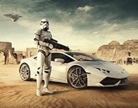 Lamborghini Advertising - Stormtrooper