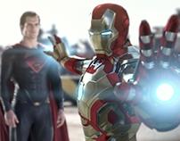 [Fanart] Superman vs Batman vs Ironman