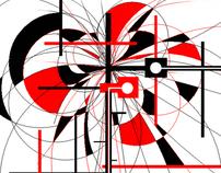 red,black&white
