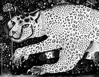 Leopard scarf for Monsieur Fox
