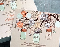 Retro Wedding & Shower Invitations 2014