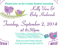 Various Shower Invites 2014