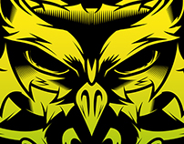 NEON OWL. (desperados red)