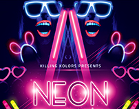 Neon / Glow Party Flyer