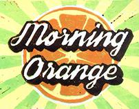"""""""Morning orange"""" lino print"""