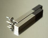 Titanium and Blackwood Earrings