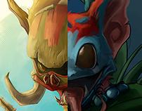 Gnarr League of Legends Skin Design