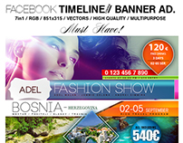 Facebook Timeline Covers / Banner Adv. Templates