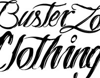 Buster Zone clothing Typography