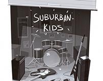 """Suburban Kids"" daily illustrations"