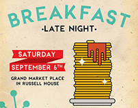 Late Night Breakfast Poster