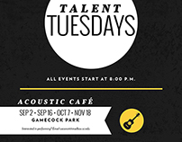 Talent Tuesdays Poster