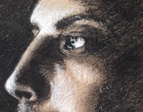 Charcoal Drawing: Man's Face