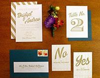 Bridget & Andrew Wedding Invitation Suite