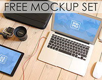 Free PSD Mockup Set