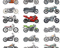 Motorcycle Illustration Poster