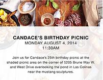 Candace's Birthday Picnic