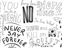 Doodles, notes and quotes