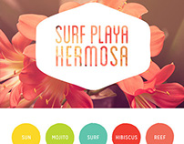 Surf Playa Hermosa Brand Board