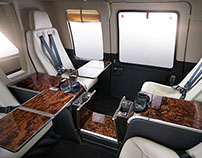 VIP helicopter interior.