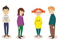 Schoolkids - character design concept