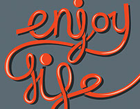 Enjoy life typography