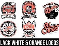 Black, White & Orange Logos 2