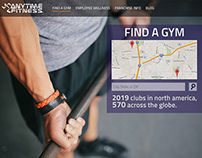 Anytime Fitness homepage design