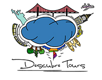 Diseño logo Descubre Tours