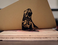 Koi Fish Letterpress Printing