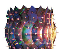 Recycled CD Lamp