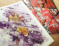 NBA Italian Magazine | LA Lakers Artwork