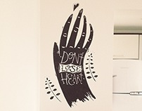 Wall Painting | Don't Lose Heart