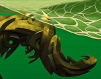 Graffiti digital 3d draco