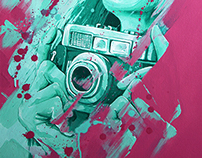 Girl on canvas