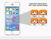 Ezan Vakti IOS 7 Style interface Design