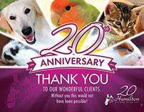 Hamilton Animal Hospital 20th Anniversary