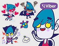 Vampire boy - Viber stickers set