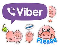 """Viber Sticker set """"Oink!"""""""