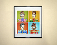 'The Beatles'. Illustration on canvas