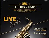 LETO live poster