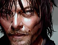 Live Drawing - Daryl Dixon