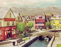 CG English Village: Crafting a 3D world
