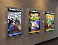 Retro Video Game Movie Festival Posters