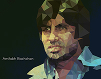 Amitabh Bachchan Low poly illustration