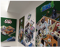 Sims 4 Promotional Pixelart for EA Games