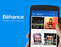 Behance New App Concept (Material Design)