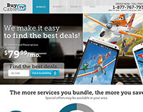 BuyCable.tv Microsite Design