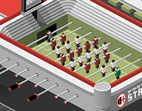 AC Milan Table Football Stadium